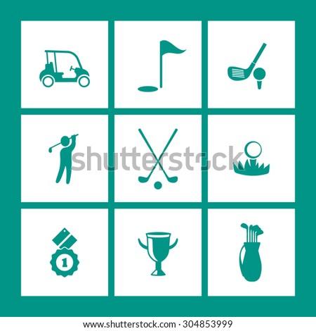 golf  golf club  car  ball