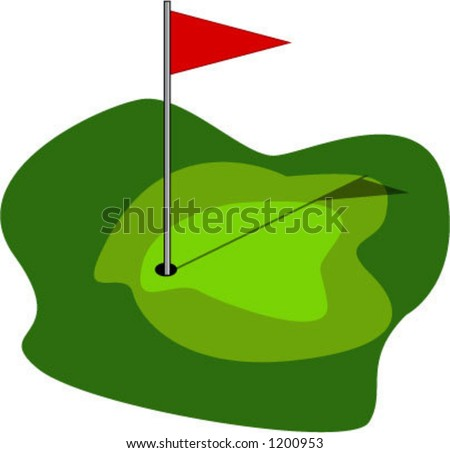 golf green - vector