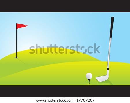 golf ground, vector illustration