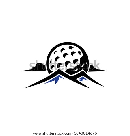 golf hills or mountain logo