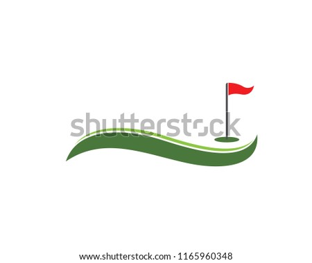 Golf icon logo vector template