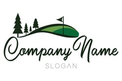 Golf Park, Landscape, Nature with beautifully manicured greens logos.