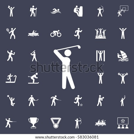 Golf Player icon. Sport icons universal set for web and mobile