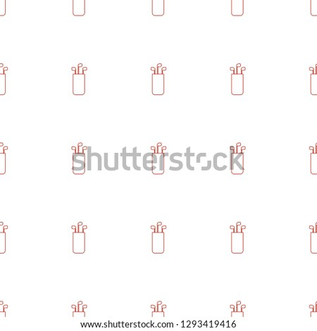 golf putter icon pattern seamless white background. Editable line golf putter icon. golf putter icon pattern for web and mobile.