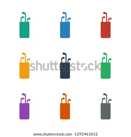 golf putter icon white background. Editable filled and line golf putter icon from entertainment. Trendy golf putter icon for web and mobile.