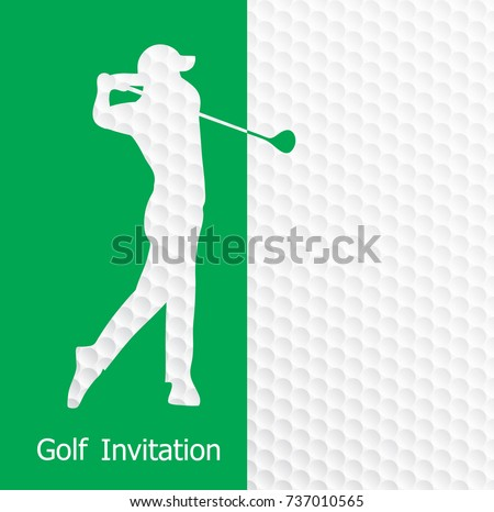 Paisagem view golf course tournament map vector flat illustration golf tournament invitation flyer template graphic design golfer swinging on golf ball pattern texture stopboris Choice Image