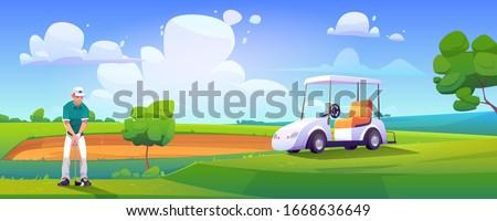 golfer playing golf on green