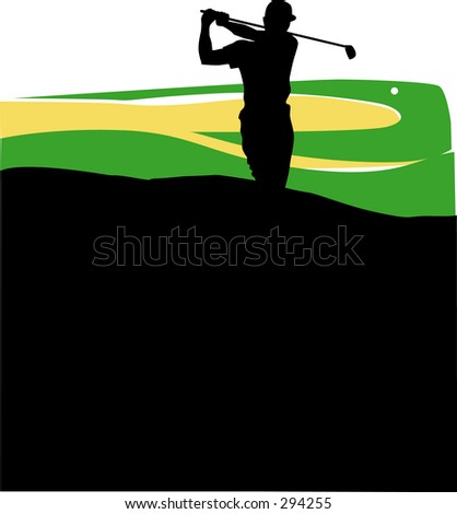 Golfer with a long swing
