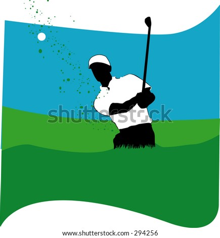 Golfer with a short swing