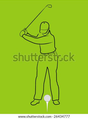 golfer with ball and tee