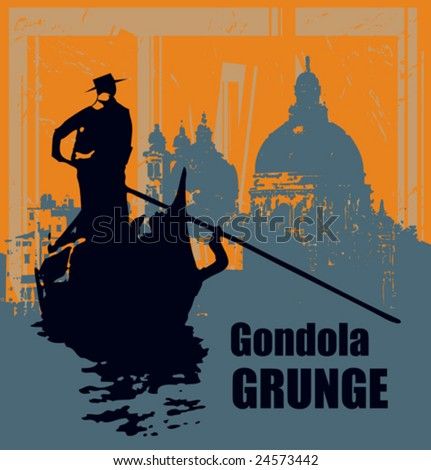 gondola grunge vector background