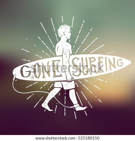 gone surfing vintage sign