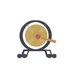 Gong. Musical instrument, vector illustration