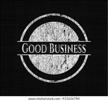 Good Business chalk emblem