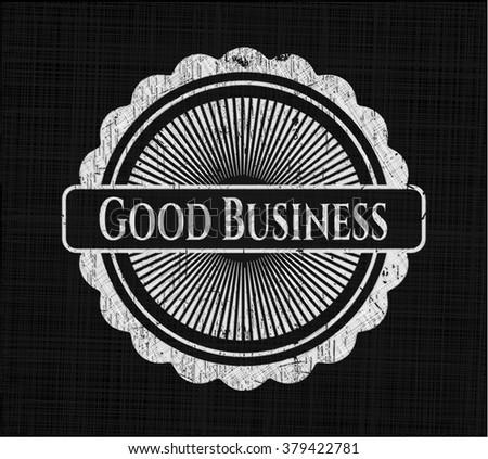 Good Business on blackboard