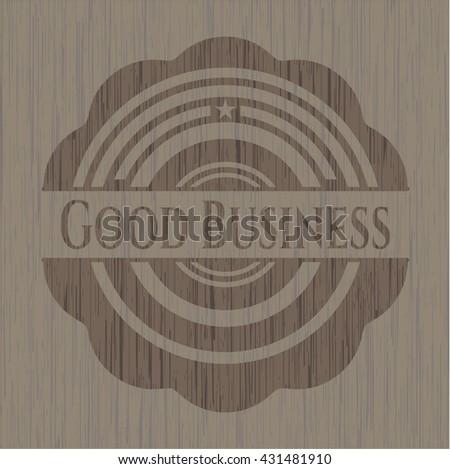Good Business retro wooden emblem