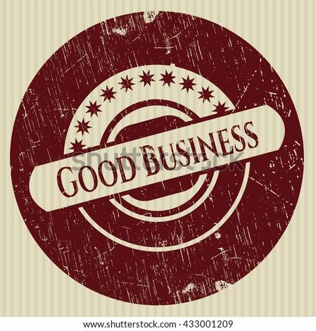 Good Business rubber grunge stamp