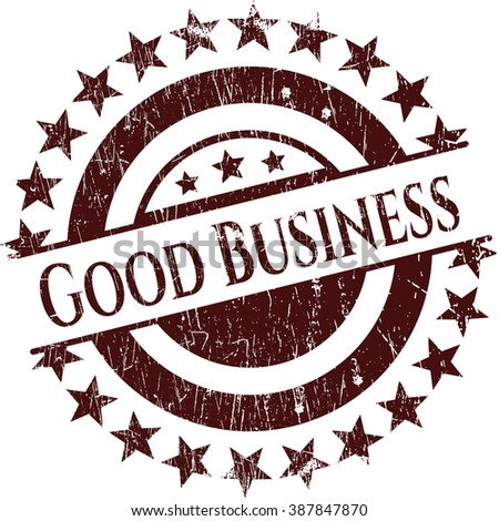 Good Business rubber stamp