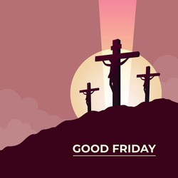 Good Friday Three crosses symbol
