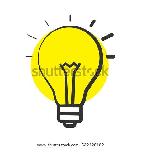 good idea color icon light