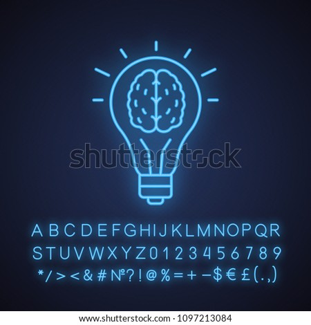 good idea neon light icon