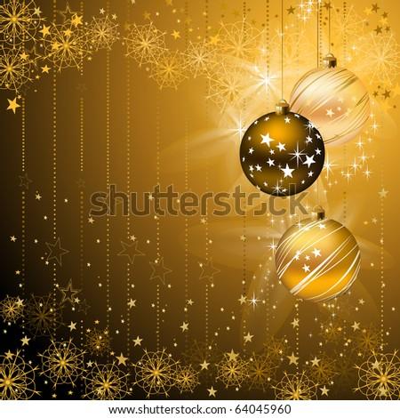 good-looking dark backdrop with evening balls