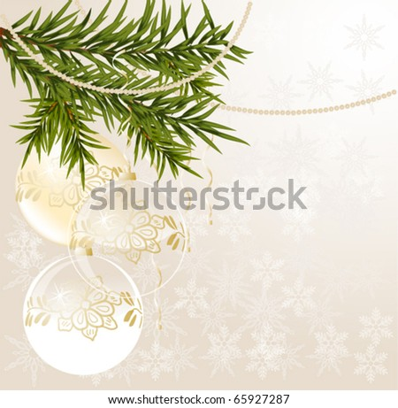 good-looking transparent white Christmas background, vector illustration