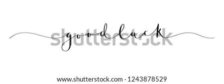 GOOD LUCK brush calligraphy banner Сток-фото ©