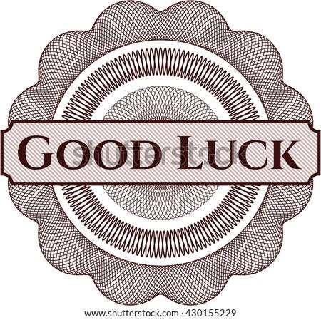 Good Luck linear rosette