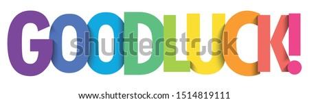 GOOD LUCK! rainbow gradient typography banner Stock photo ©