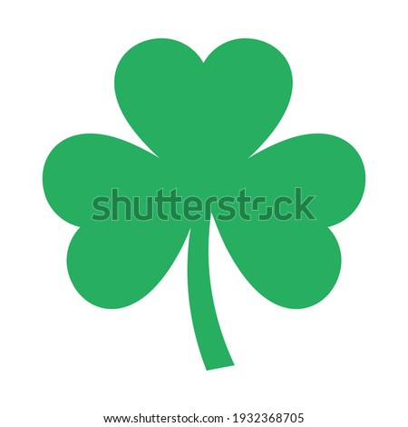 Good luck three leaf clover flat icon for apps and websites Foto d'archivio ©