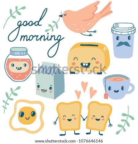 good morning funny characters