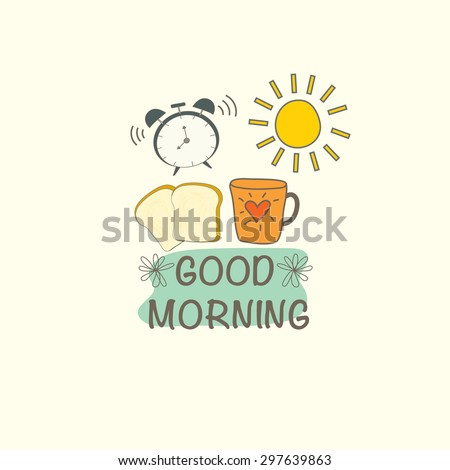 Good morning object. vector design illustration.