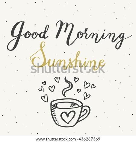 good morning sunshine hand