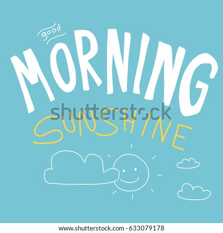 good morning sunshine vector