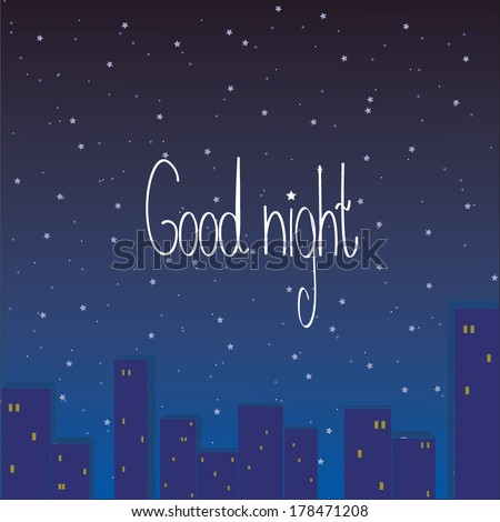 good night letter letter stock vector illustration 178471208 21975