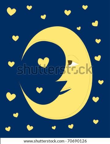 good night moon in the sky