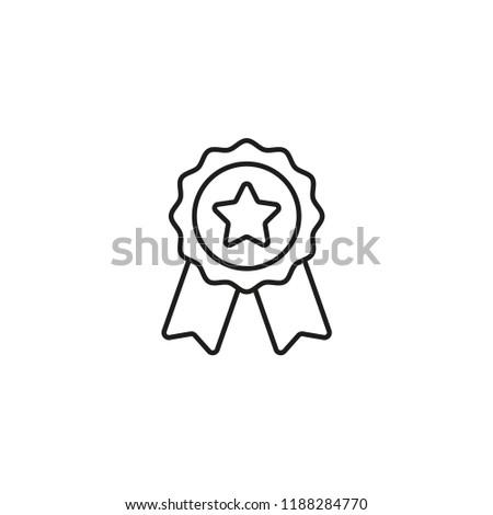 Good reward icon. Vector