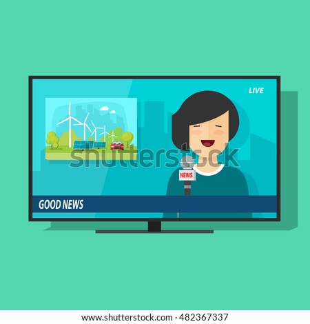 good tv news vector