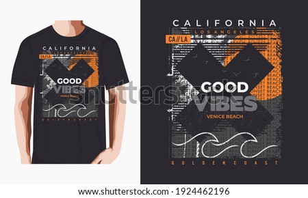 good vibes,California, Goldent coast,typography graphic design, for t-shirt prints, vector illustration