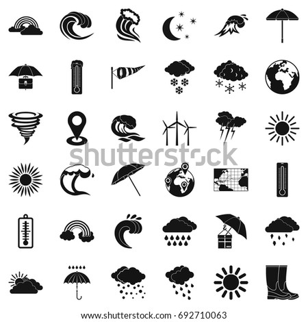 Good weather icons set. Simple style of 36 good weather vector icons for web isolated on white background