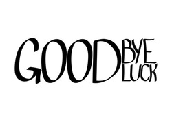 Goodbye and good luck, isolated hand lettering, words design template, vector illustration