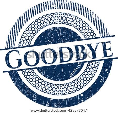 Goodbye grunge style stamp