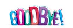 Goodbye! Isolated vector illustration word
