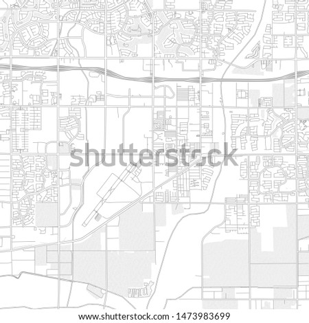 Goodyear, Arizona, USA, bright outlined vector map with bigger and minor roads and steets created for infographic backgrounds.