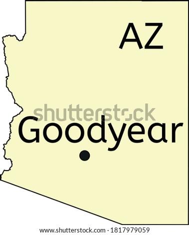 Goodyear city location on Arizona map