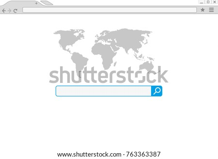 Google Chrome Browser window vector illustration. Chrome web browser in flat style