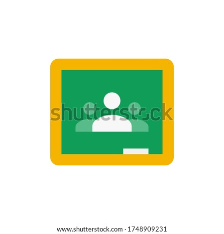 Google Classroom logo,Classroom makes it easy for learners and instructors to connect—inside and outside of schools.Google classroom vector illustration