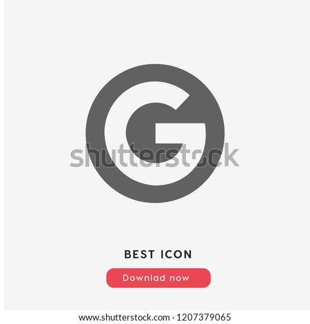 Google icon vector. Google symbol. Linear style sign for mobile concept and web design. Google symbol illustration. Pixel vector graphics - Vector.