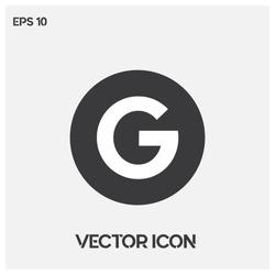 Google icon vector illustration. Modern google  vector logo.Premium quality.
